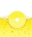part de citron de jus Photographie stock