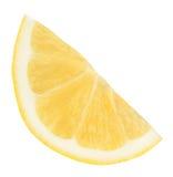 Part de citron frais d'isolement Images stock