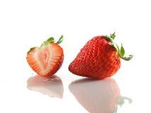 Part de fraise Photographie stock libre de droits