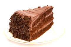 Part de gâteau de chocolat Image libre de droits