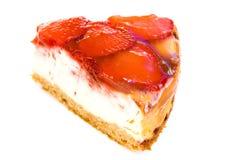 Part de gâteau de fraise Photographie stock
