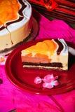 Part de gâteau orange Photos libres de droits