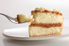 Part de gâteau posé Photographie stock libre de droits