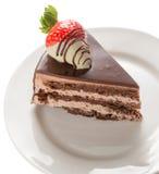 Part de gâteau de chocolat Photographie stock libre de droits