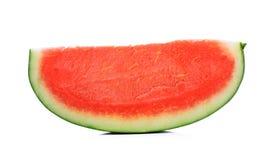 Part de melon d'eau sur un fond blanc Photo libre de droits