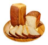 Part de pain à la plaque images libres de droits