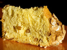 Part de panettone Photos libres de droits