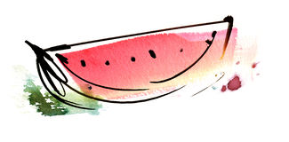 Part de pastèque Illustration Libre de Droits