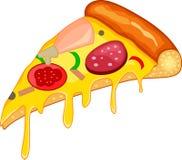 Part de pizza illustration de vecteur