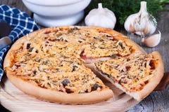 Part de pizza de fromage Photo libre de droits