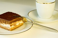 part de regard délicieuse de chocolat de gâteau Image libre de droits