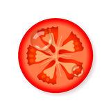 Part de tomate fraîche Image libre de droits