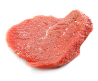 Part de viande rouge d'isolement sur le blanc image libre de droits