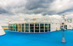 Ouistreham-Cruise Ferry-Deck 9 stock images