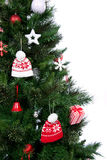 Part of decorated Christmas tree ornament Stock Images