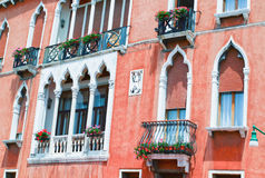 Part of the decoration of the house in Venice Royalty Free Stock Photo