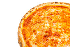 Part of delicious classic Hawaiian Pizza with chicken, pineapple and cheese Royalty Free Stock Image