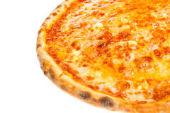 Part of delicious classic Hawaiian Pizza with chicken, pineapple and cheese Stock Photography