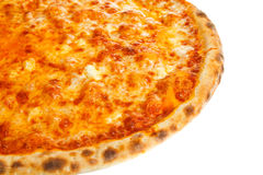 Part of delicious classic Hawaiian Pizza with chicken, pineapple and cheese Stock Photos