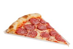 Part of delicious classic italian Pizza Pepperoni with sausages and cheese mozzarella Stock Photo