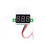Part of digital volt meter for dc Stock Image