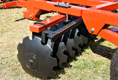 Part of the disc harrow machinery Stock Images