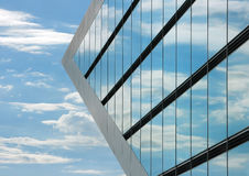 Part of the Dockland office building in Hamburg. Stock Image