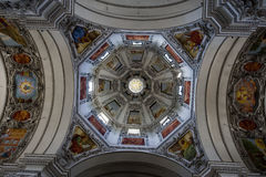 Part of the dome in the Salzburg Cathedral Royalty Free Stock Photos