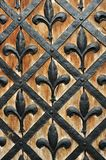 Part of a door of old castle Royalty Free Stock Image