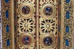 Part of a doorway church Stock Photo