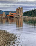 Part of dowtown Coeur d'Alene, Idaho. Stock Image