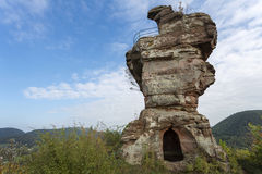 Part of the Drachenfels castle in Germany Royalty Free Stock Images