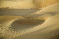 Part of dunes of sand desert Stock Photos