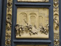 A part of the East Doors of the Florence Baptistery Stock Image