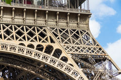 Part of the Eiffel Tower Stock Images
