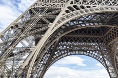 Part of the the Eiffel Tower. stock image