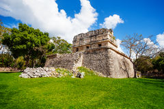 Part of El Caracol, observatory near Chichen Itza Royalty Free Stock Images