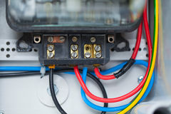 Part of electric switchboard Royalty Free Stock Image