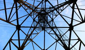 Part of the electricity pylon Royalty Free Stock Images