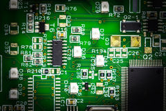 Part of electronic circuit Royalty Free Stock Images