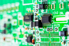 Part of electronic circuit Stock Image