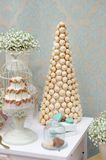 Part of elegant sweet table. On dinner or event party royalty free stock photography