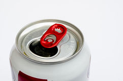Part of empty aluminum can isolate on white background Stock Photography