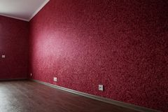 Part of empty red room Royalty Free Stock Photos