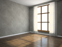 Part of the empty room. 3D rendering Stock Photography