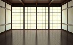 Part of the empty room. 3D rendering Royalty Free Stock Images