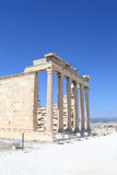 Part of Erechtheum greek temple Stock Photo