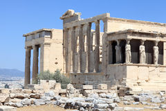 Part of Erechtheum temple Royalty Free Stock Photography