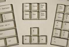 Part of ergonomic computer keyboard Royalty Free Stock Images