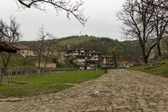 Part of Etar village with guest house in old architectural style. Gabrovo town, Bulgaria Stock Image